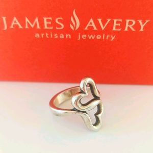 "James Avery ""Heart to Heart"" 925 Ring"